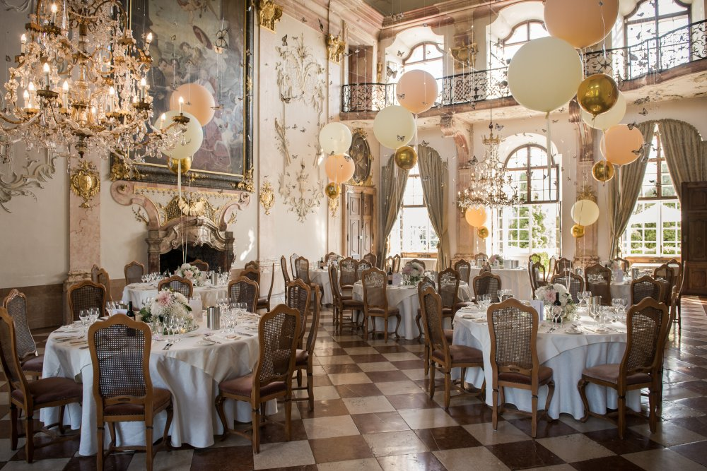 fairy-tale wedding salzburg schloss leopoldskron marble hall