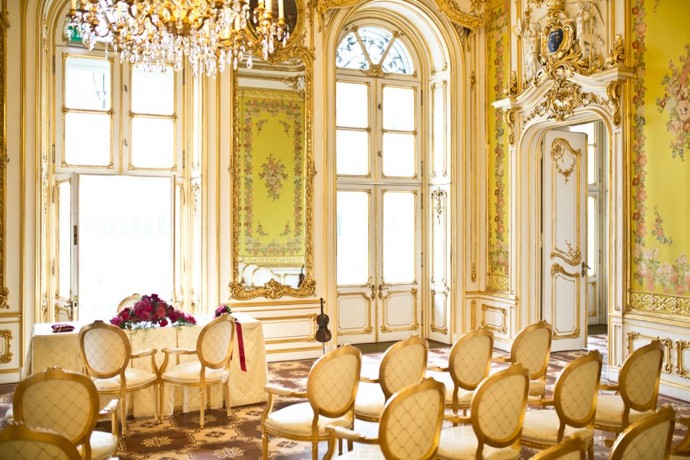 luxury wedding vienna austria palais coburg state rooms civil ceremony