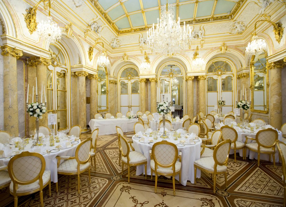 luxury wedding vienna austria palais coburg state rooms dinner