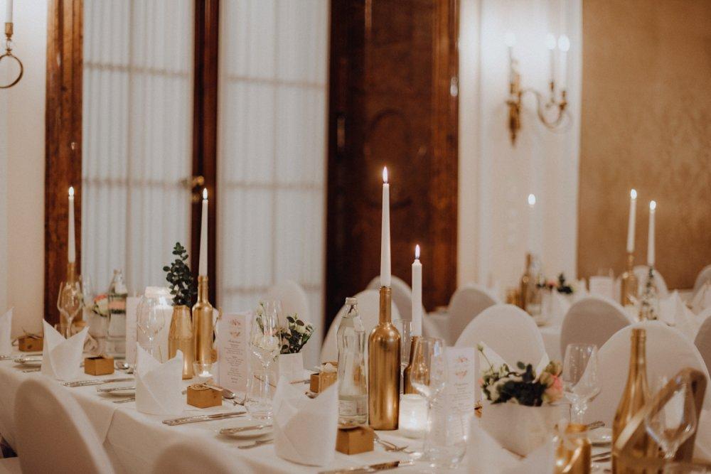 wedding location Salzburg Kavalierhaus Klessheim table decor