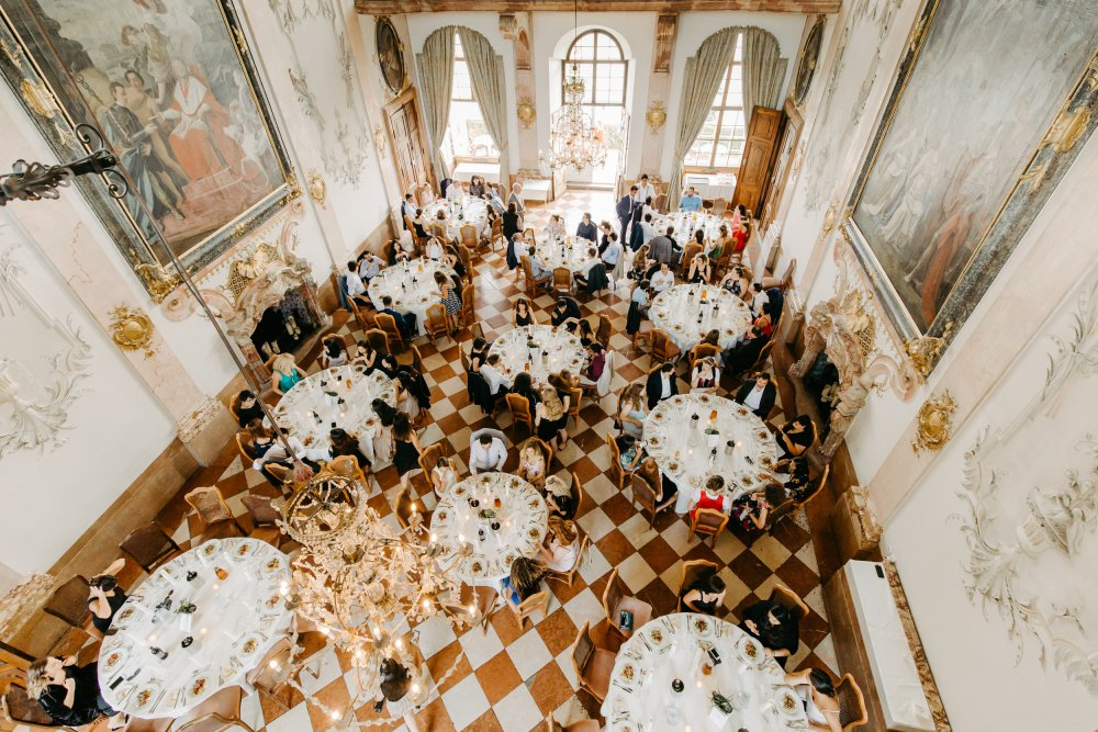 fairy-tale wedding salzburg schloss leopoldskron main room