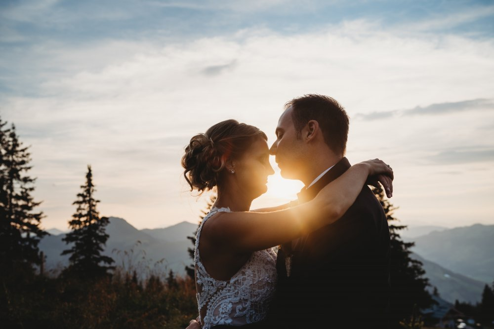 mountain wedding kitzbuehel austria sundown