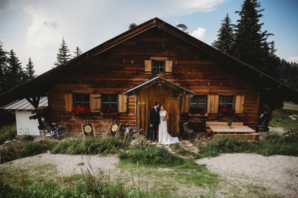 mountain wedding kitzbuehel austria hut
