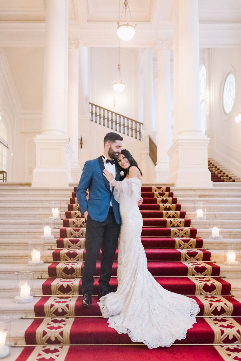 luxury wedding vienna austria palais coburg couple red carpet